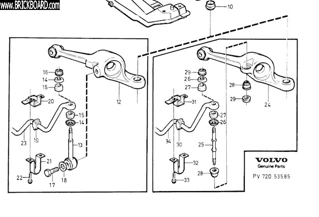 Volvo 700 -- Front suspension 740