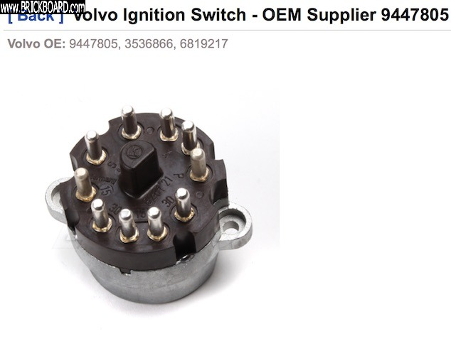 Volvo 900 -- Ignition switch (from eeuroparts)