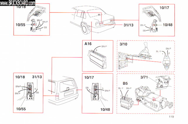 Volvo S90-V90 -- Volvo V90 tail light diagram - reverse light
