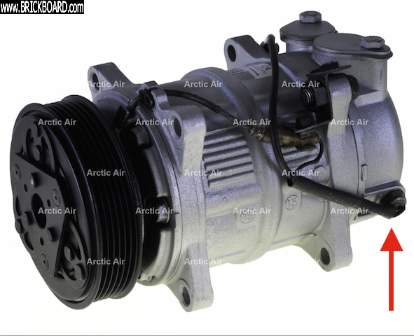 Volvo 900 -- AC compressor temperature switch