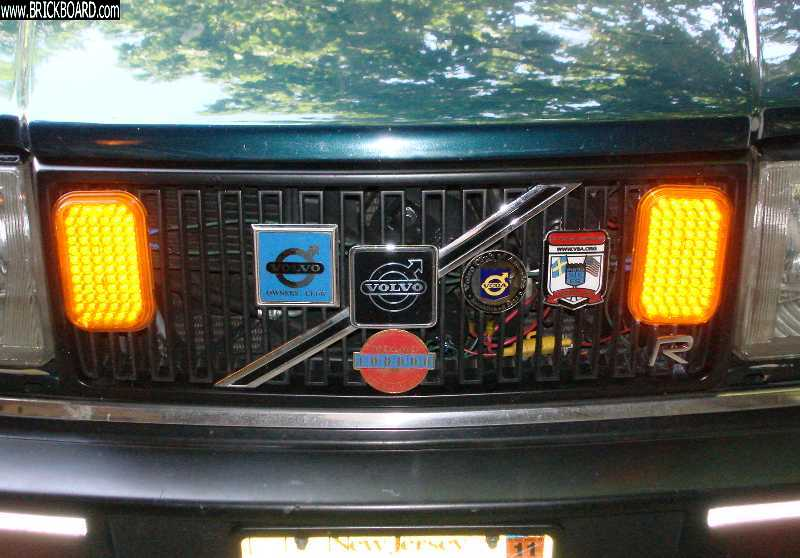 Volvo 200 -- My grille, with LED DRLs